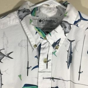 Columbia Shirts - Columbia Sportswear Cotton Shirt Size L